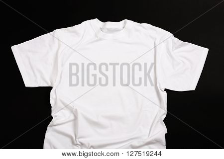 White shirt on a black background