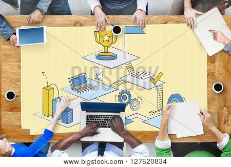 Brainstorming Collaboration Teamwork Thinking Office Concept