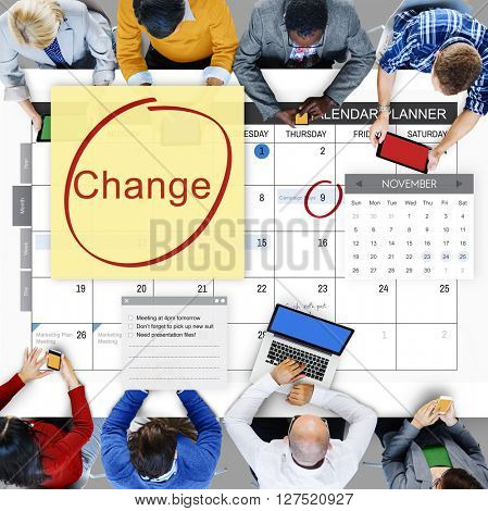 Change Appointment Event Schedule Concept