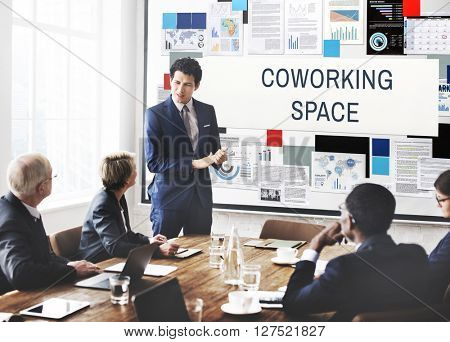 Coworking Space Community Start up Concept
