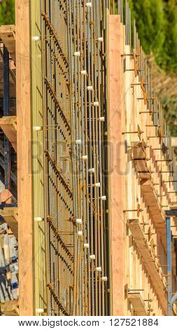 Your dream home. New residential construction house framing.