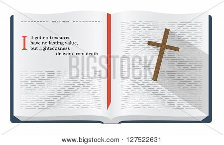 Best Bible quotes about real treasures. Christian sayings for Bible study flashcards illustration