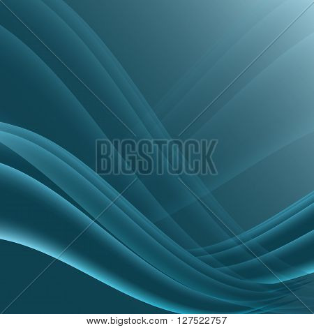 Blue and black waves modern futuristic abstract background, stock vector