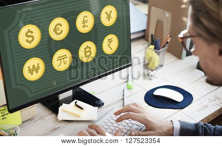 Banking Business Capital Currency Exchange Sign Concept