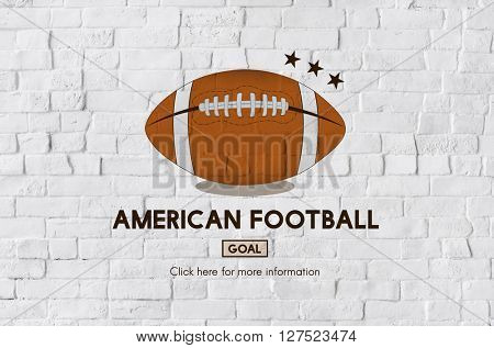 American Football Goal Game Rugby Concept
