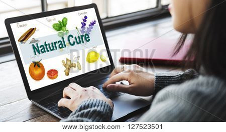 Medicinal Plants Natural Cure Herb Herbalism Concept