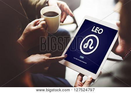 Leo Zodiac Sign Horoscope Myth Stars Symbol Concept