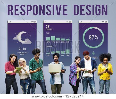 Responsive Design Programming Application Development Concept