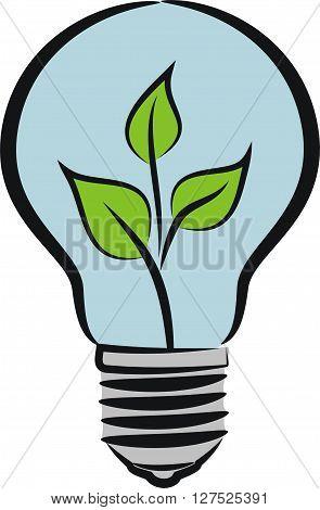 eco bulb - idea and ecology metaphor