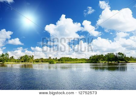Lake in Dominican republic