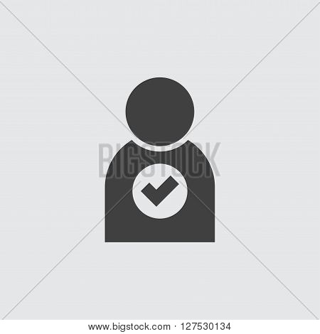 Add user icon illustration isolated vector sign symbol