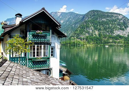 Picturesque panorama of  Hallstatter See. Upper Austria ** Note: Soft Focus at 100%, best at smaller sizes