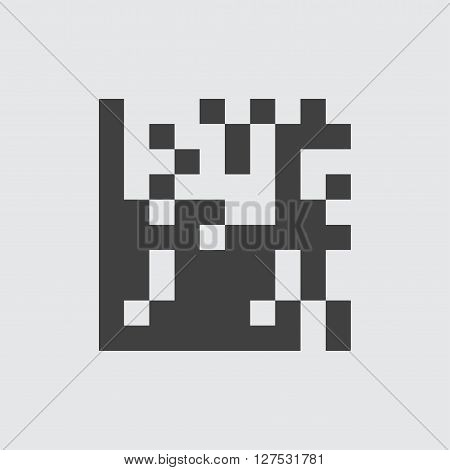 QR code icon illustration isolated vector sign symbol