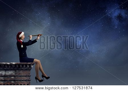 Santa woman in search