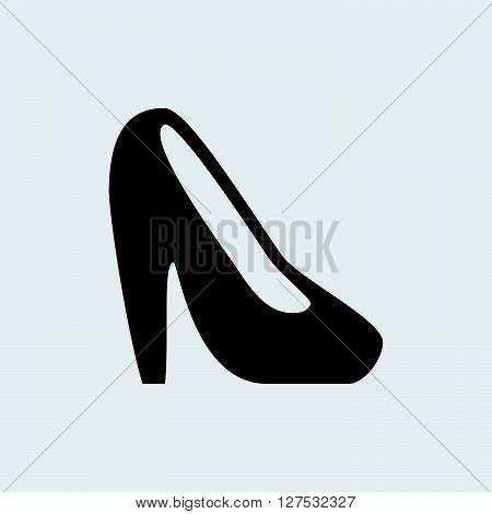 Heel shoe icon illustration isolated vector sign symbol