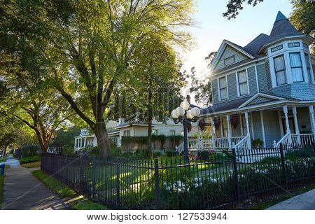 Houston heights victorian style houses in Texas