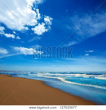 Tavernes de Valldigna beach dunes in Valencia of Spain