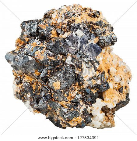 Crystals Of Galenite And Sphalerite In Rock