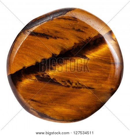 Ball From Tigers Eye Gemstone Isolated