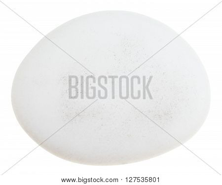 Pebble Of Cacholong (white Opal) Gemstone Isolated