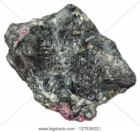 Aegirine Mineral With Pink Eudialyte Crystals