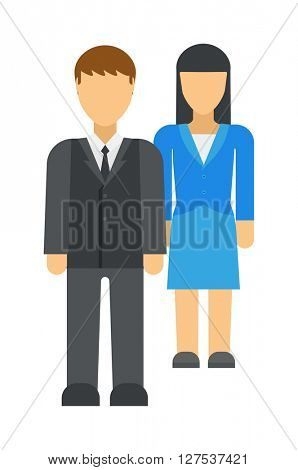 Workplace business discrimination issues vector illustration.