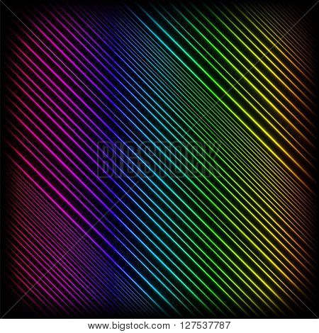 Bright Neon Lines Background. Abstract Colorful Neon Pattern. Colorful Neon Pattern. Striped Neon Diagonal Background.