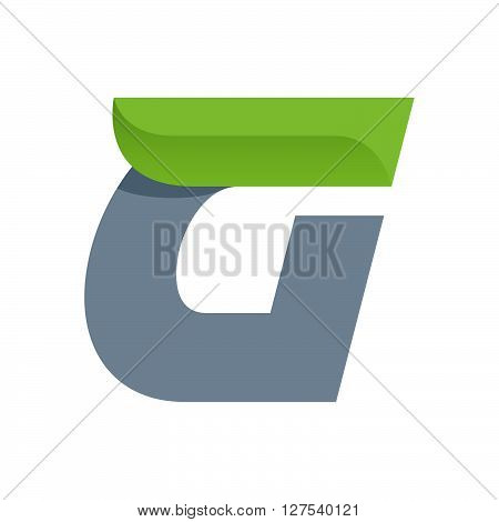 G Letter Logo With Green Leaf.