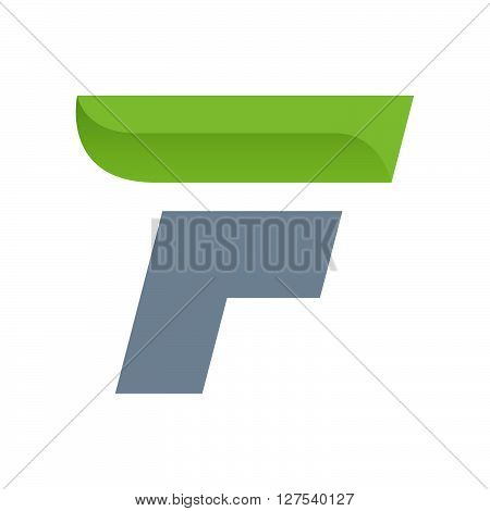 F Letter Logo With Green Leaf.