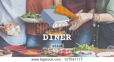 Diner Dinner Meal Menu Concept