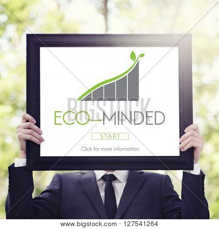 Eco Minded Businessman Marketing Concept