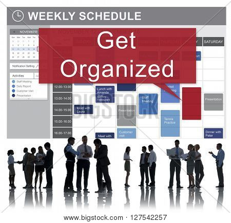 Get Orgaized Management Set Up Organization Plan Concept