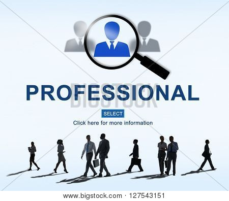 Professional Employment Website Occupations Concept