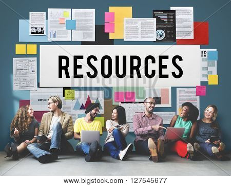 Resources Context Material Management Career Concept
