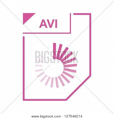 AVI file icon in cartoon style on a white background