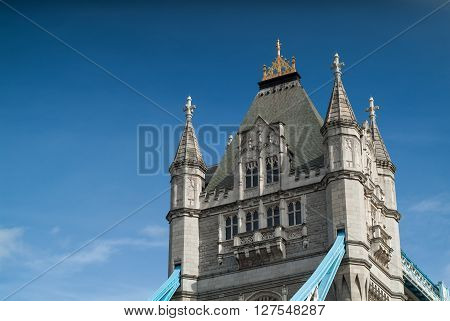 closeup photo of the Tower Bridge in central London