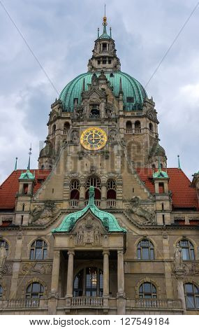 New City Hall of Hannover in Germany.