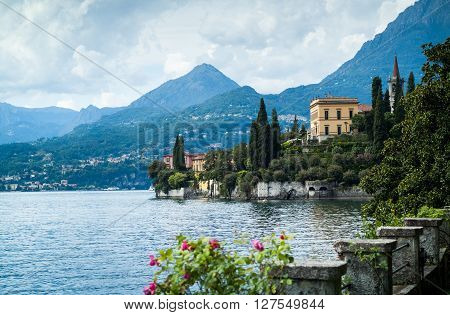 a picturesque view of Lake Como from Villa Monastero in Italy
