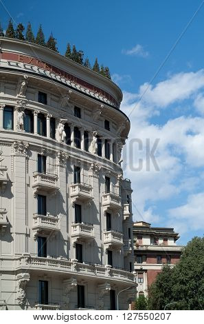 Milan, Italy - September 5th 2015: photo of Excelsior Hotel Gallia in Milan Italy.