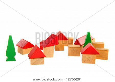 Wooden Toy Village