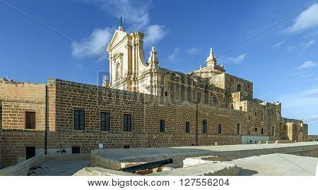 Citadele Old Church Of Victoria In Malta