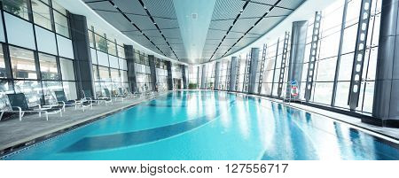 design of swimming pool in modern gym