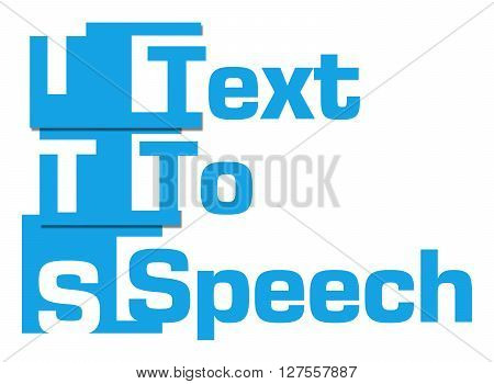 TTS - Text To Speech text written over colorful background.