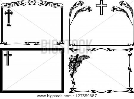 obituary notice - vector frames and borders