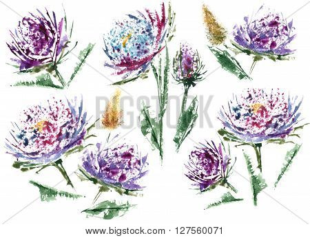 Flower And Watercolor Are Great Couple