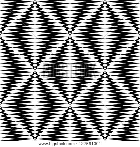 Seamless Rhombus Pattern. Vector Monochrome Background