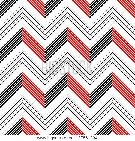 Seamless ZigZag Pattern. Abstract Background. Vector Regular Texture