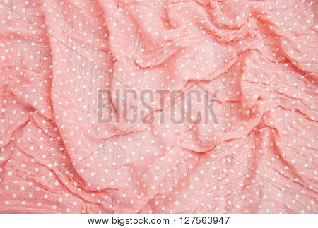 Pink Spotted Textile