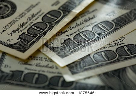 Background. Close up of a $ banknotes