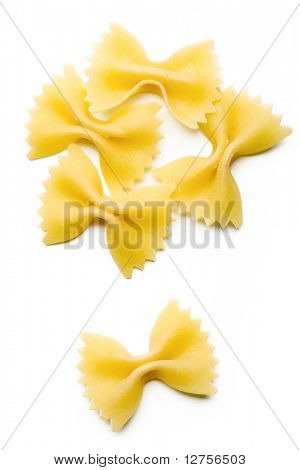 Close up of the Farfalle Pasta Uncooked